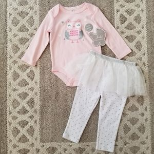 Baby Essentials Owl Tulle Outfit 18 Months NEW